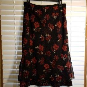 Jonathan Martin floral a-line skirt